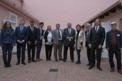 Geiger Alumni meeting in the Breslauer Forum of Abraham Geiger College.
