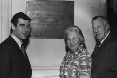 Rabbi Richard G. Hirsch, Kivie Kaplan and Emily Kaplan at the RAC. (circa 1962)