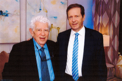 Rabbi Hirsch and Isaac Herzog, President of the State of Israel