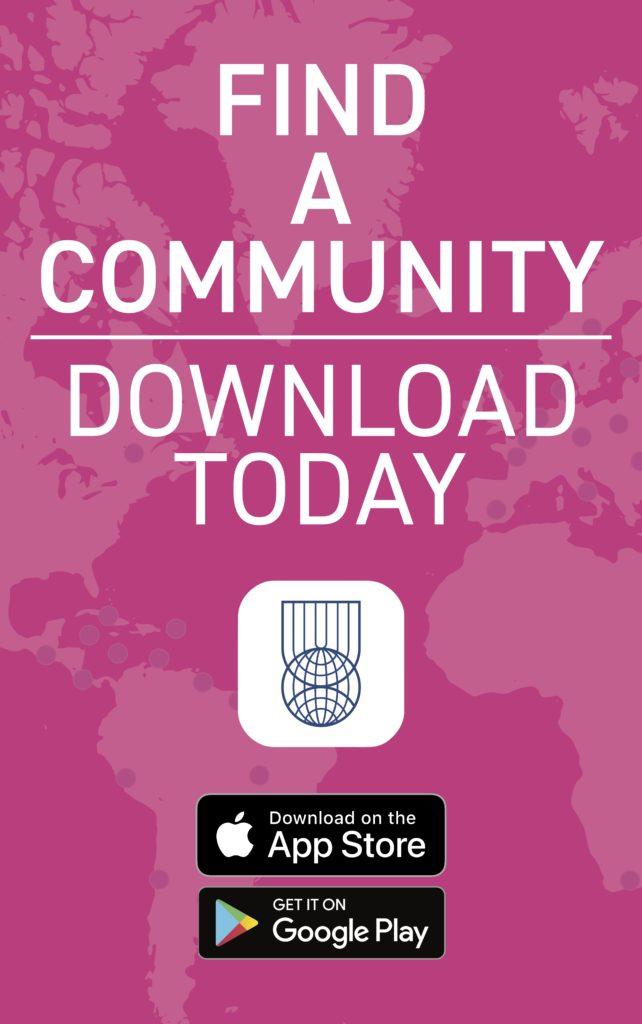 Find a Community | Download our app