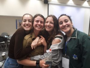 With Netzer Germany graduate Patrizia, second from left, in Jerusalem