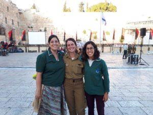 With Netzer Germany graduate Sharon, second from left, in Jerusalem
