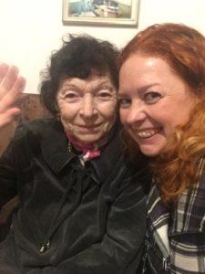 MASA FSU participants visit a senior home during Chanukah