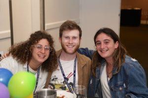 From left: Maxine Silbert, Jordan Werner-Hall and Mili Haber (Netzer)