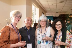 Immediate past chair Kelvin Ratnam with three lovely North Shore Temple Emanuel ladies: President Gwen Harrison, Program and Admin Manager Pauline Lazarus and Temple Administrator Lynne Michel