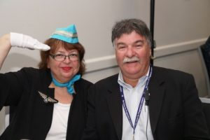 Temple Beth Israel Vice-President Judi Cohen and Peter Cohen