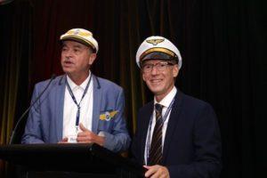 UPJ President Roger Mendelson and Biennial Chair Dr Robert Sward