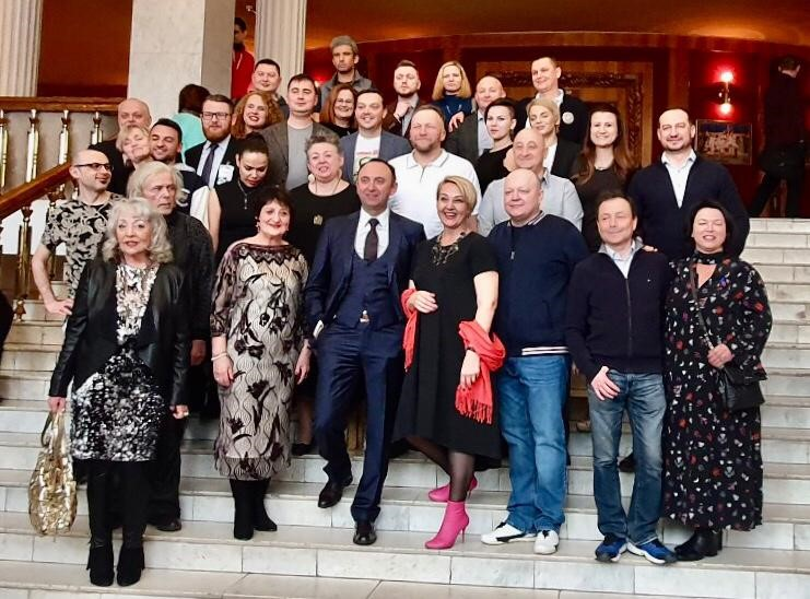 Founders and Partners of the Purimshpeil Festival in Vitbesk, March 2019