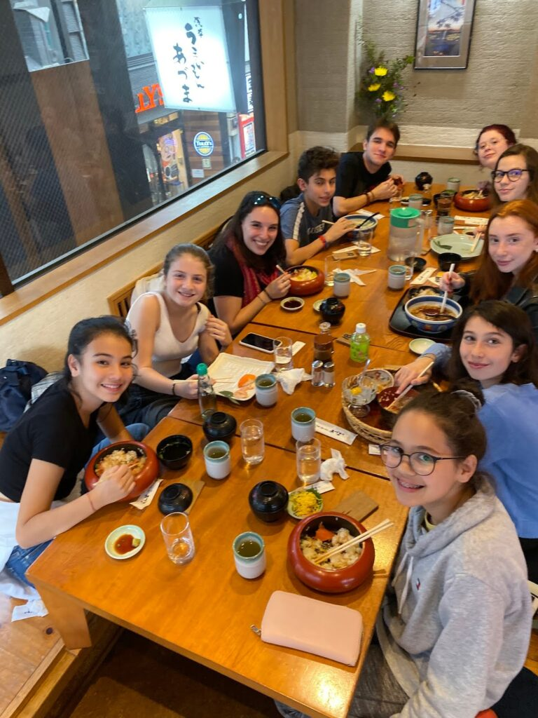 Scene from Teen Shabbaton in Tokyo, APJ November 2019